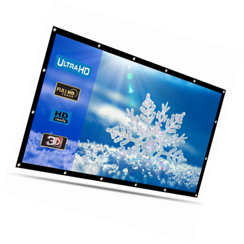 """Projector Screen HENZIN 120/"""" Inches 16:9 Portable Indoor Outdoor Projection ..."""