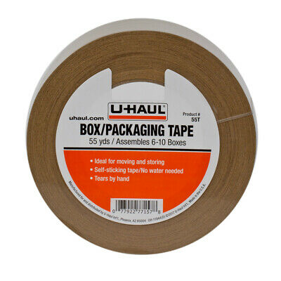 Box Packaging Kraft Paper Tape 55yd Rolls Self Adhesive Self Rippable 6-pack