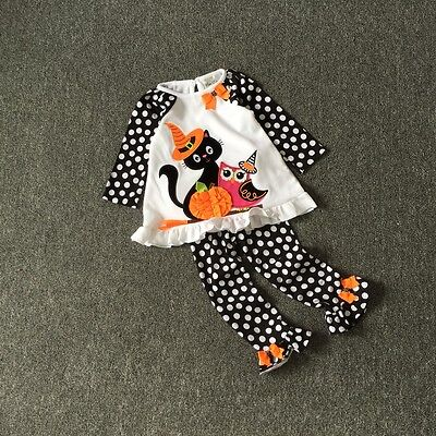 Kid Christmas Set Toddler Lovley Cat Owl and Pumpkin Halloween Costume 2-6T](Toddler Pumpkin Halloween Costume)