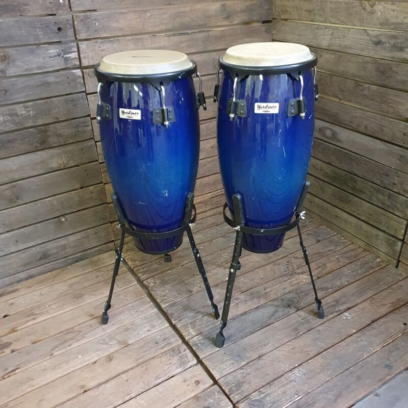 Conga Set Headliner By Meinl With Stands, Blue Fade USED! RKCHH020721