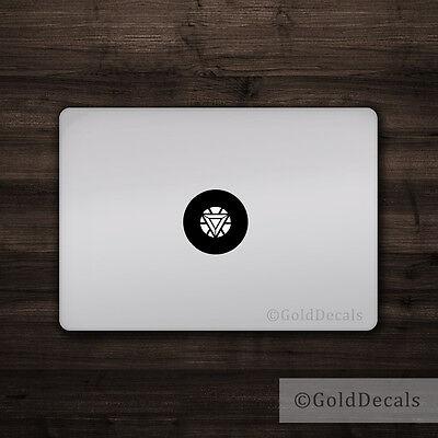 Iron Man Arc Reactor -- Mac Apple Logo Laptop Vinyl Decal Sticker Macbook Decal