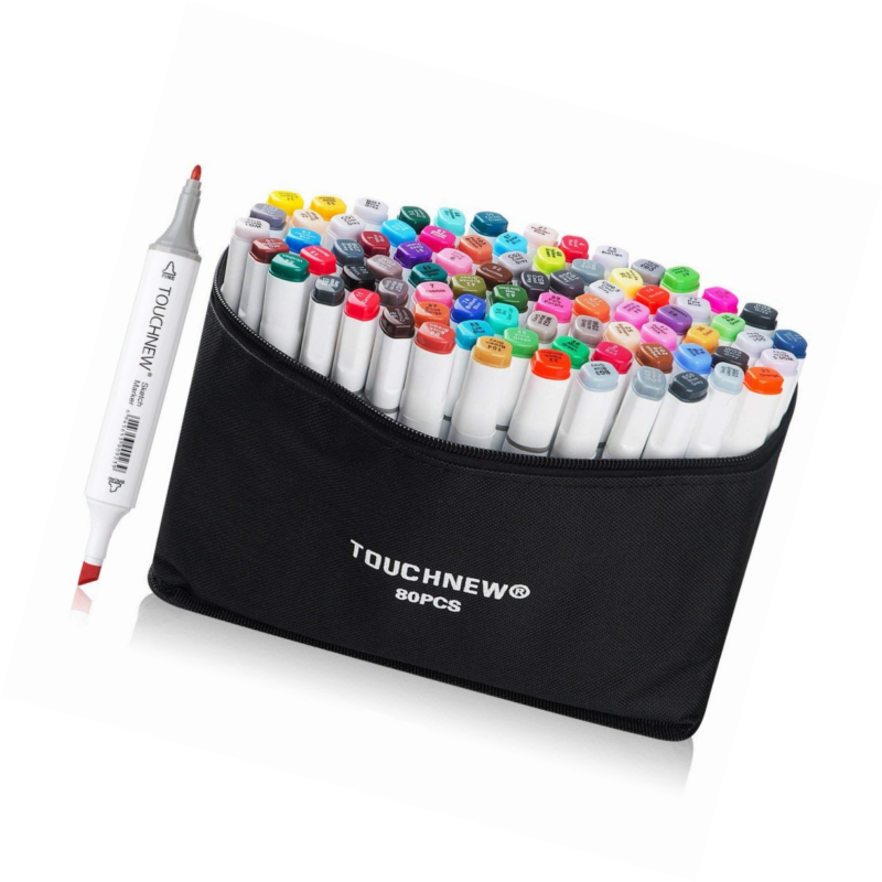 80 Set Color TOUCHNEW Alcohol Graphic Drawing Art Dual Tip S