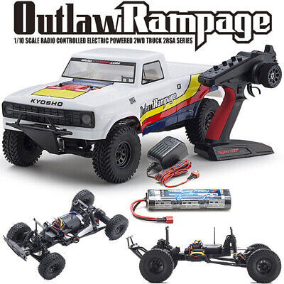 NEW Kyosho 1/10 Outlaw Rampage WHT EP 2WD Truck RTR w/Radio/Battery FREE US SHIP