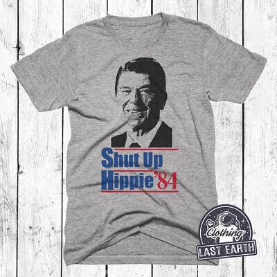 Ronald Reagan Shirt Shut Up Hippe Shirt 4th Of July Shirt Funny Republican Shirt