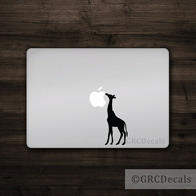 Used, Giraffe - Mac Apple Logo Cover Laptop Vinyl Decal Bumper Sticker Animal Zoo for sale  Shipping to Canada