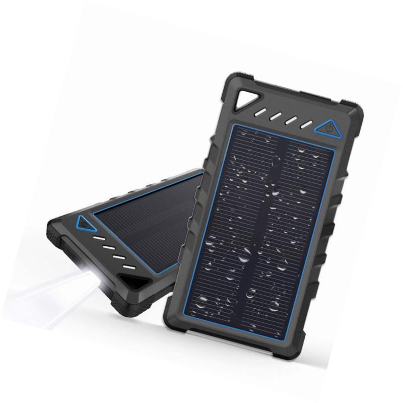 Portable Solar Charger, BEARTWO 10000mAh Ultra-Compact Phone