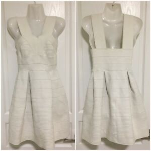 H&M size small elastic white party dress