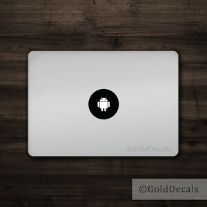 Android - Mac Apple Logo Laptop Vinyl Decal Sticker Macbook Decal Funny Droid