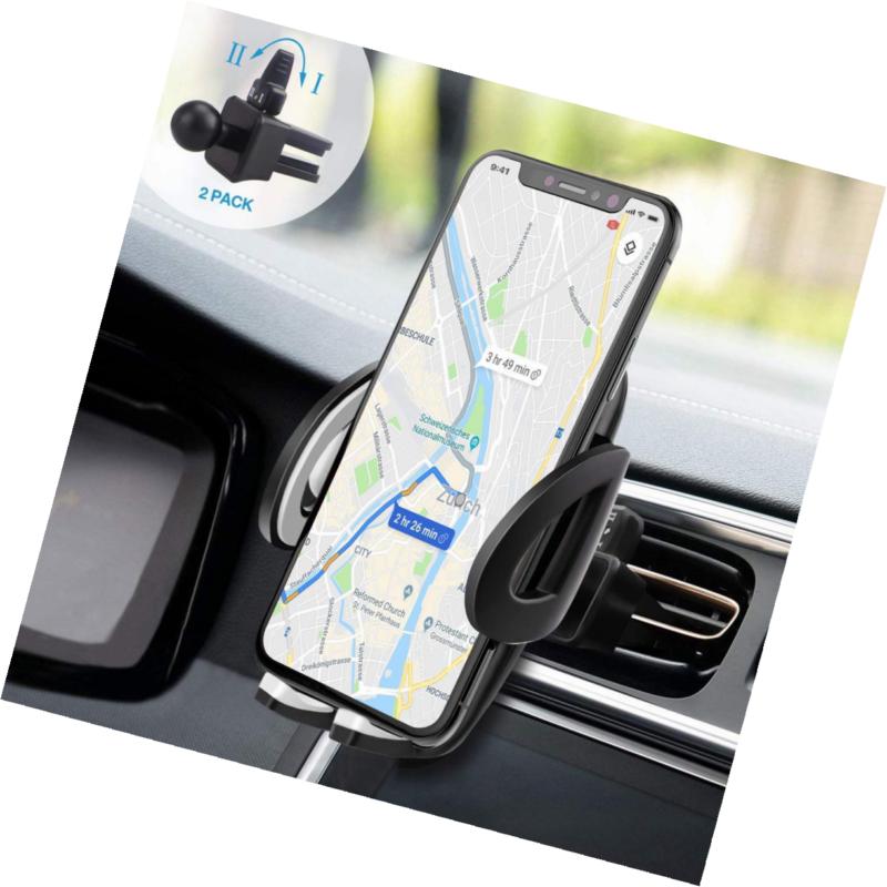 IZUKU Handyhalter f/ürs Auto handzhalterung auto smartphone halterung kfz Kratzschutz mit einer zus/ätzlichen Klammer f/ür die L/üftung 360/° Handyhalterung Auto L/üftung Universal f/ür iPhone Samsung Huawei