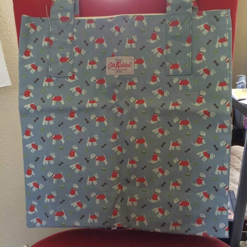 Cath Kidston London Cotton Shopping Bag Super Cute Tote Stanley Westie Dog NWT