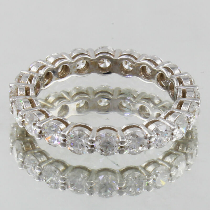 14k Gold Diamond Round Shape 3.00 Carat Dia Certified Eternity Ring