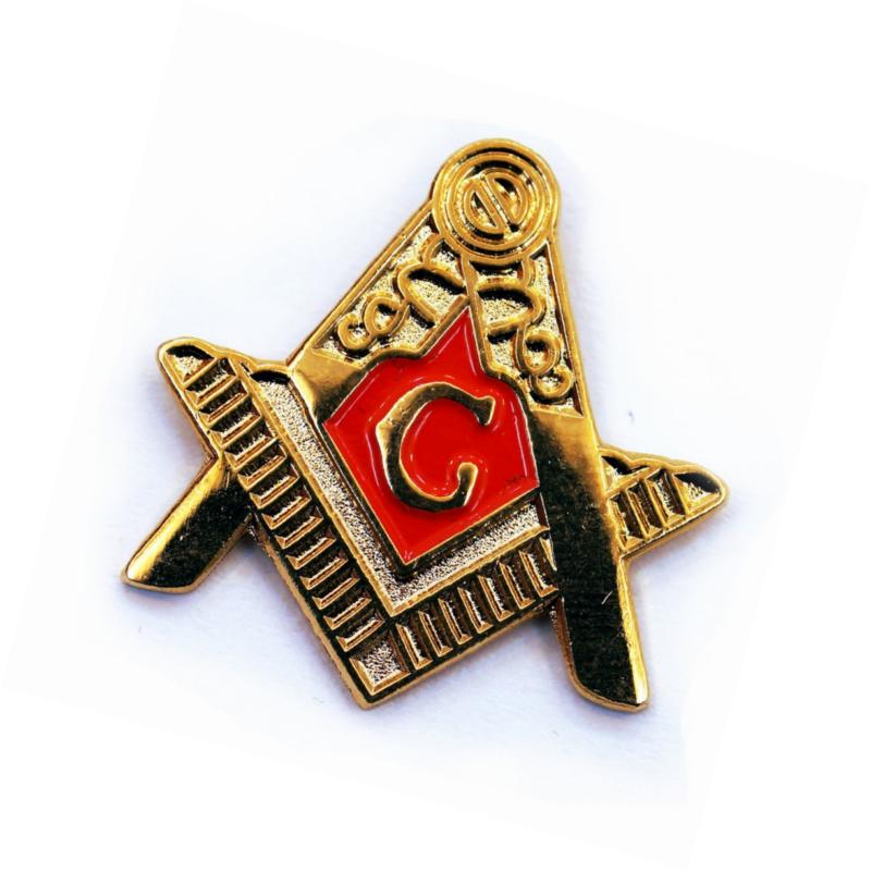 Fellowcraft Masonic Freemason Lapel Pin