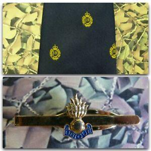 Royal-Engineers-Crest-Blue-Tie-Tie-Bar-Set-Grenade-RE