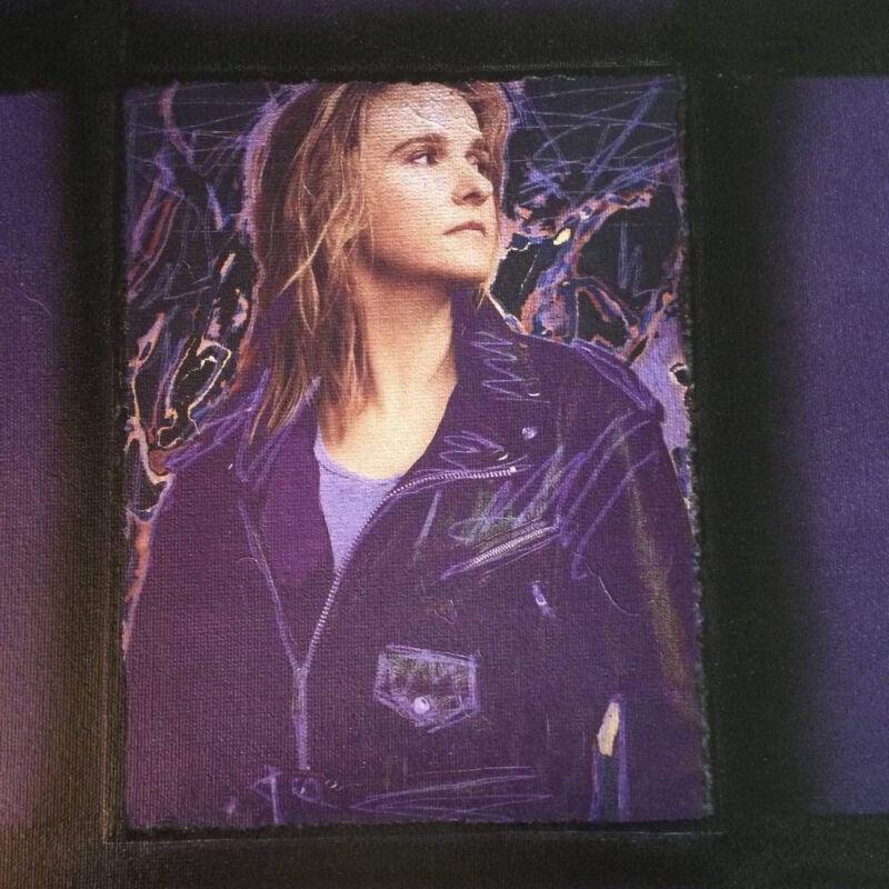 Melissa Etheridge canvas mixed media Kelly Keigwin Painting Lesbian Rock Artist