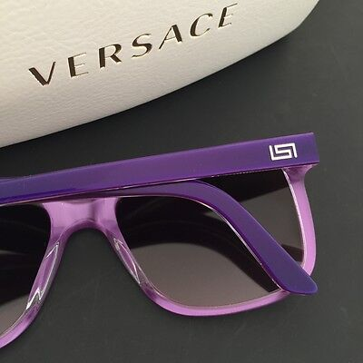 2fab06bad2 Versace Women s Sunglasses VE4229-A Purple Plastic Frame Rectangular  Wayfarer