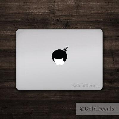 Afro Hair - Mac Apple Logo Cover Laptop Vinyl Decal Sticker Macbook Unique Hair