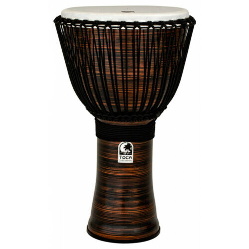 Toca Freestyle 2 Series 14″ Djembe Hand Drum Spun Copper includes bag