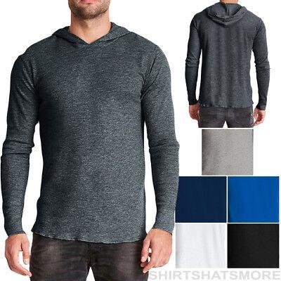 Mens Long Sleeve Thermal Tee (Mens Thermal Hoodie T-Shirt Long Sleeve Hoody Tee Jumper XS-XL 2XL,3XL NEW!)