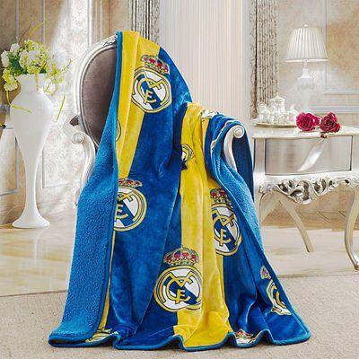 "Real Madrid Sherpa Throw Blanket 50""x60"" La Liga Cobija"