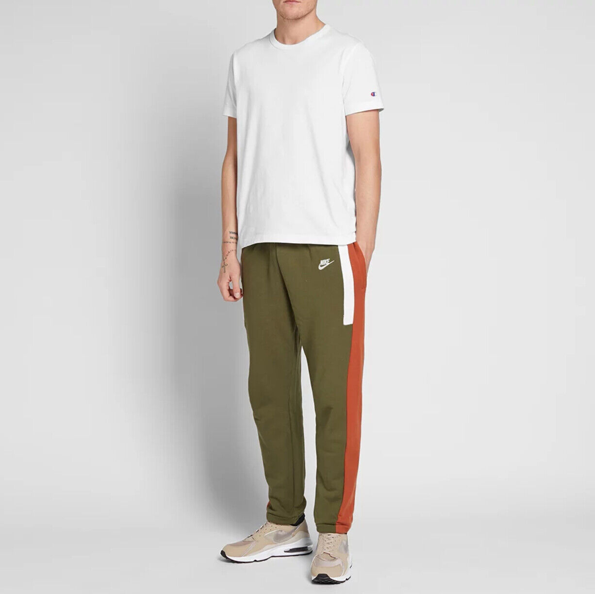 Nike Re-Issue Fleece Joggers Sweatpants Olive Green Men's AQ