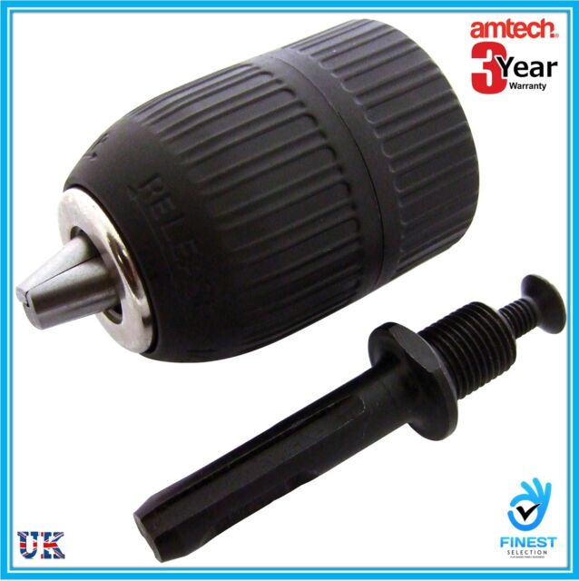 "NEW 1/2"" 2mm TO 13mm KEYLESS DRILL CHUCK WITH SDS ADAPTOR - MAKITA, BOSCH V1280"
