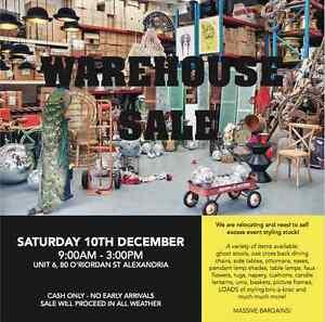 WAREHOUSE SALE - SAT 10TH DEC - ALEXANDRIA Alexandria Inner Sydney Preview