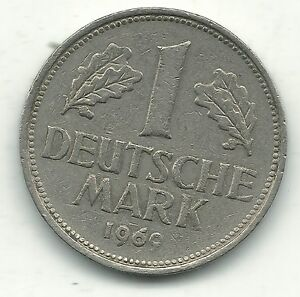 VERY NICE BETTER GRADE 1969 G GERMAN - GERMANY 1 -DEUTSCHE MARK-JAN410