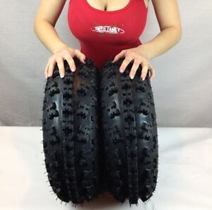 Front-Tire-Set-2x-4ply-21X7-10-Quadboss-Sport-ATV-Tires-21-7-10-21x7x10-22