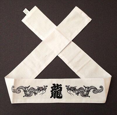 "Japanese Martial Arts Sports ""Ryu"" Dragon Hachimaki Headband Tenugui Hand Towel"