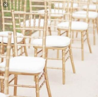 Gold Tiffany chairs $4
