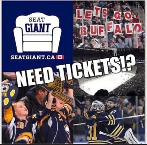 BUFFALO SABRES TICKETS FROM $18 CAD!!!