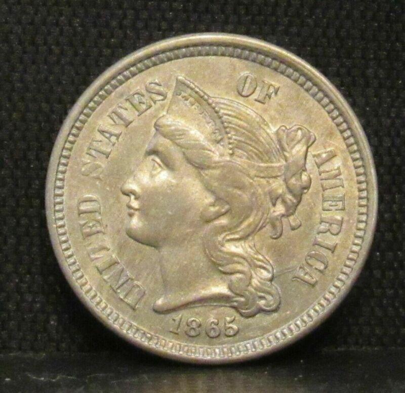 1865 Three Cent Nickel UNC