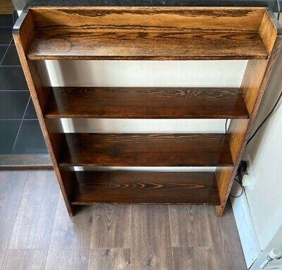 1930s 4 Shelf Oak Bookcase
