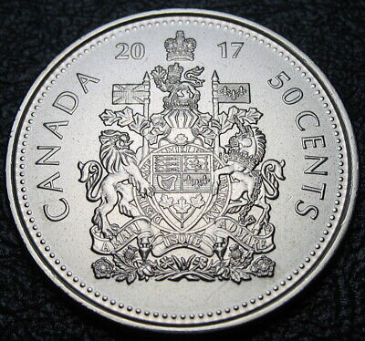RCM - 2017 - 50-cents - Classic Coat of Arms - BU ( From a new roll ) Classic Coat Of Arms