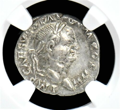 RARE ITEMS An AR Silver Denarius of the Emperor Vespasian, NGC Choice XF