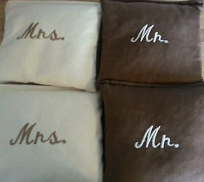 Mr Mrs wedding bags Corn hole bags Outdoor Wedding Game Regulation Toss Bags - Outdoor Wedding Games