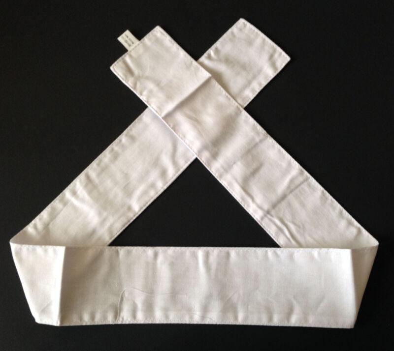 "Japanese Martial Arts Sports Hachimaki ""Shiro"" White Cotton Headband 37""L"