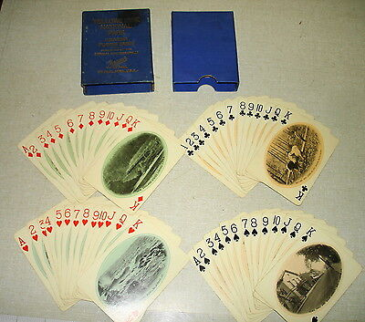 c1910 VERMONT THE GREEN MOUNTAIN STATE Souvenir Playing Cards Complete VGC