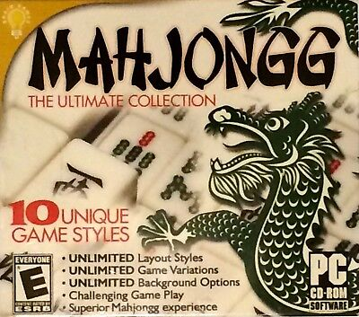 Computer Games - Mahjongg The Ultimate Collection PC Games Windows 10 8 7 XP Computer puzzle game