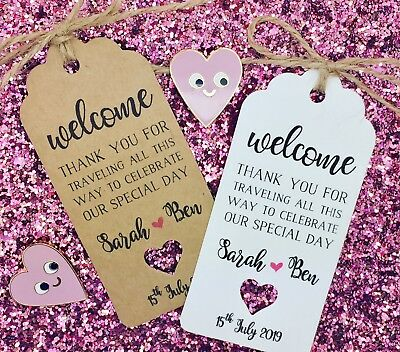 Welcome Bag Tags, Hotel Bag Labels For Wedding Abroad / Destination - Hotel Welcome Bags