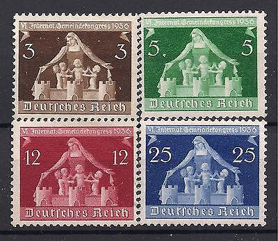 Germany Third Reich Mi# 617-620 MH 6th International Local Goverment Congress *