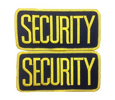 2 Small Security Patches Badge Emblem 4 14 Inches X 2 Inches Gold Navy