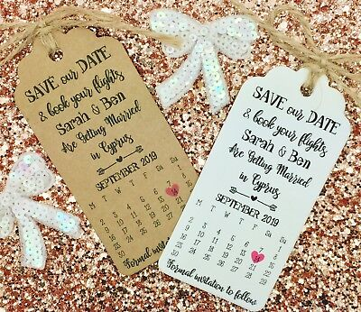 Calendar Destination Wedding Save The Date, Invitation, Travel Wedding Abroad - Save The Date Destination Wedding