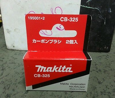 - 195001-2 Carbon Brush Set CB-325 Makita Genuine part for angle grinder