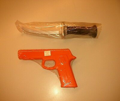 Rubber Gun and Knife Set for Martial Arts Training Defense and Police Practice