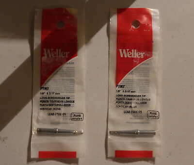 Nos Lot Of 2 Weller Ptm7 Soldering Conical Tip For Tc201 Tcp Smp