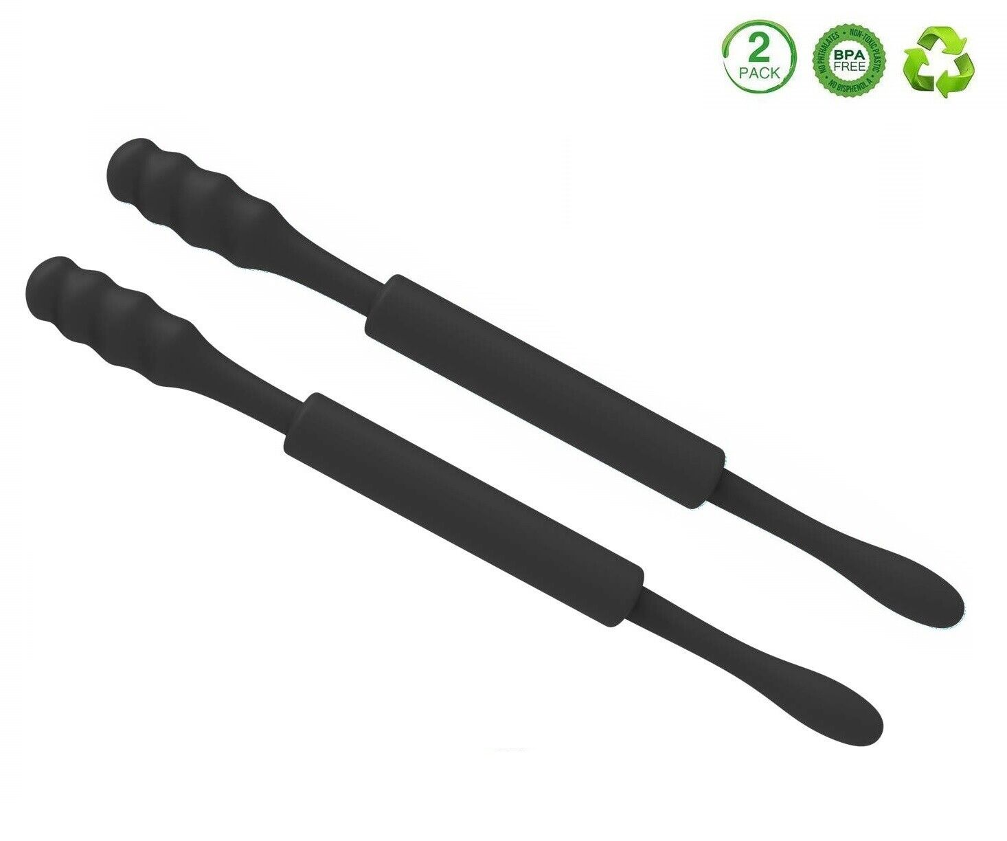 2 Pack Ear Wax Cleaner Swab Earwax Makeup Remover Reusable Silicone Tool (Black) Health & Beauty