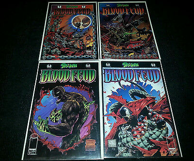 New Spawn Blood Feud 1-4 NM  Complete Mini Series Mint 1995 First Edition