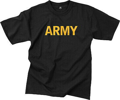 Black Army Workout PT T-Shirt Physical Training APFU Gym Tactical Military Tee Clothing, Shoes & Accessories