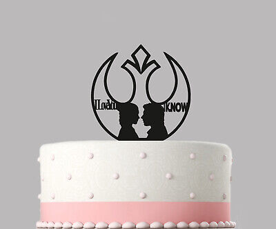 Star Wars I Love You I Know Han Solo Wedding Cake Topper Decoration Acrylic.375